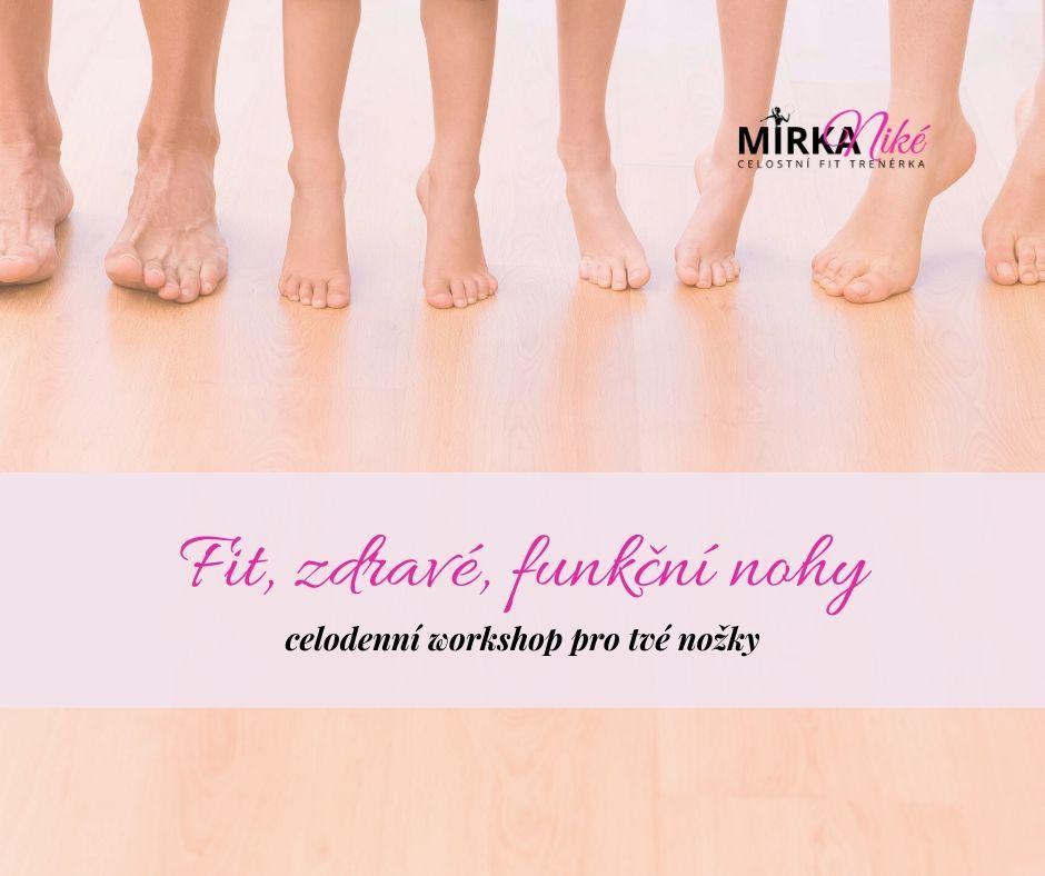 Fit, zdravé afunkční nohy